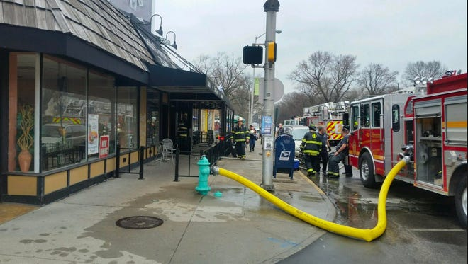 Indianapolis firefighters responded to a report of a kitchen fire at Twenty Tap, 5406 N. College Ave., Thursday, Feb. 23, 2017.