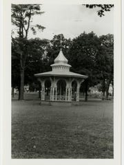 The gazebo at Maple Park Cemetery. An article in the