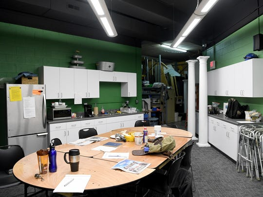 The greenroom of the Asheville Community Theatre was redone as part of Phase 1 of renovations to the building. It now has more room for actors and crew members.