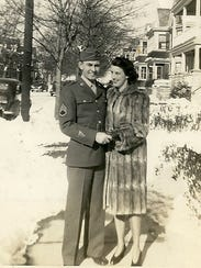 Bill and Peggy Germiller are shown in Poughkeepsie on Valentine's Day, Feb. 14, 1944.