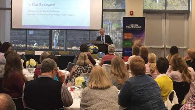 Congressman Trey Gowdy at a human trafficking symposium at the Kroc Center on Friday, April 7.