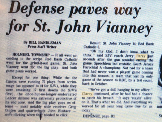 Asbury Park Press story from Dec. 6, 1980, when St.