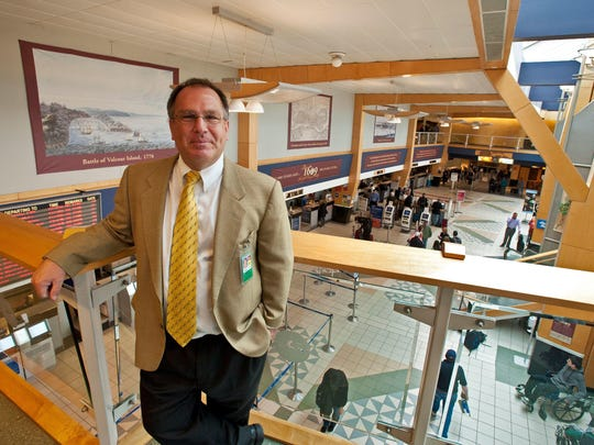 Burlington International Airport executive director Gene Richards is on a mission to bring Boston flights back to Burlington.