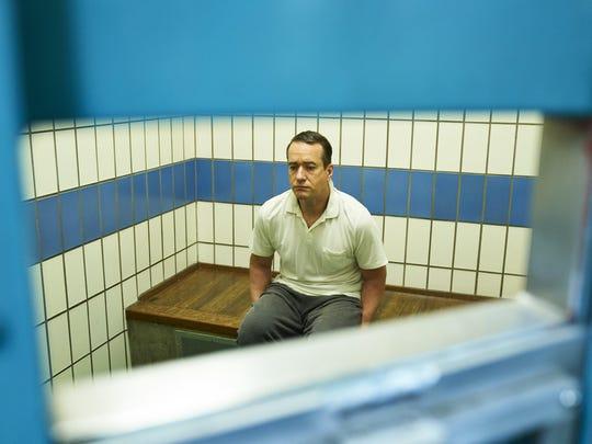 "Matthew Macfadyen as Charles Ingram in AMC's three-part ""Quiz,"" which debuts at 10 p.m. Sunday."