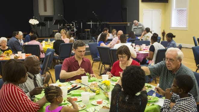 Saint Paul's United Methodist Church was one of dozens of host sites for this year's The Longest Table event.