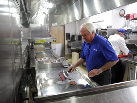 Craig Culver, Culver's co-founder, demonstrates how