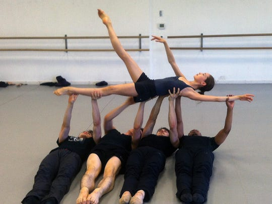 """Juliet Doherty rehearses with the cast of """"String of"""
