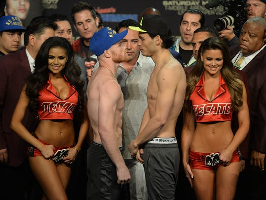 Boxing: Canel vs Chavez Jr. Weigh-In