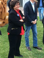 Lupe Valdez and Andrew White at a Texas Democratic