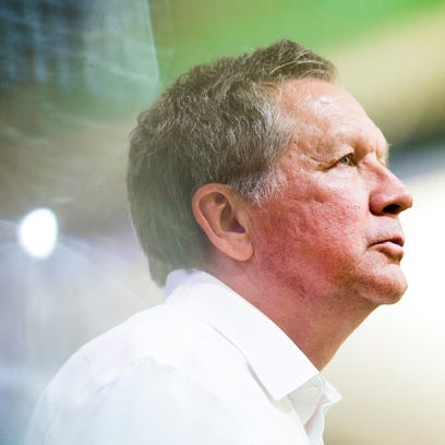 Ohio Governor John Kasich talks to students and community