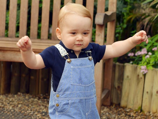 AP APTOPIX Britain Royals Prince George