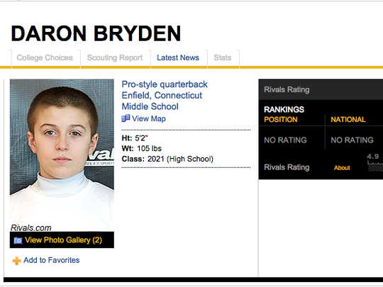 Rivals is listing prospects in the sixth grade.