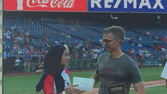 Medina Talebi, left, nominated her teacher Kevin Yourison for the All-Star Teacher award.