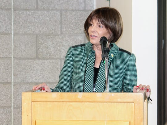 Rep. Yvette Herrell spoke on behalf of herself and the other Otero County legislative leaders and said the prayer breakfast was a testament of how much the community has faith.