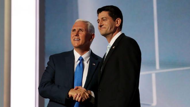 Mike Pence, candidato a la vicepresidencia con Trump, y Paul Ryan, ya se han reunido.