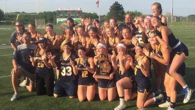 The Hartland girls lacrosse team is back in the Division 1 state semifinals after beating Huron Valley on Saturday.