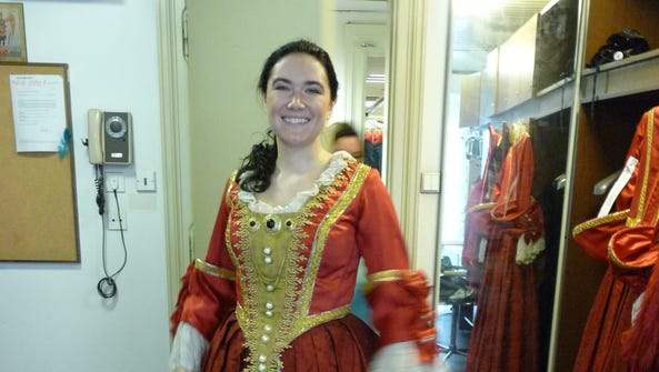 Shaina Sanders dresses for her role as Donna Elvira