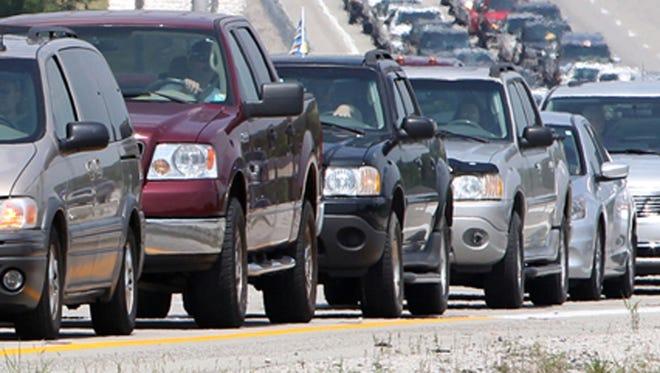 Work that will cause lane closures on Interstate 71 this week was scheduled around the Cincinnati Reds schedule.