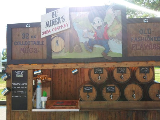 Ol' Miner's Soda Co. is serving at the 2018 Larimer
