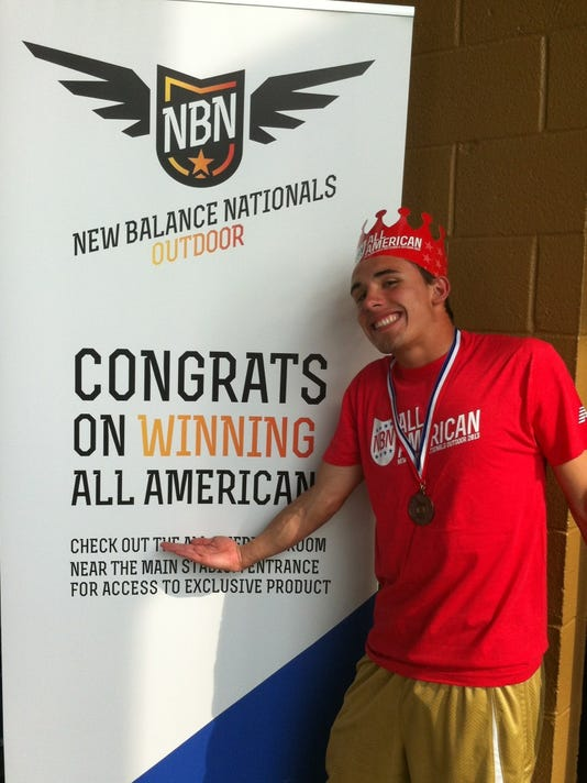 Central York's Jay Stone placed sixth in the 400-meter hurdles at the New Balance Outdoor Nationals. His personal-record performance, the 12th best time in the country, earned him All-American honors. (SUBMITTED -- CHRIS DETWILER)