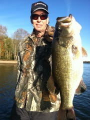 Steve Hacker with a big bass caught in early September.