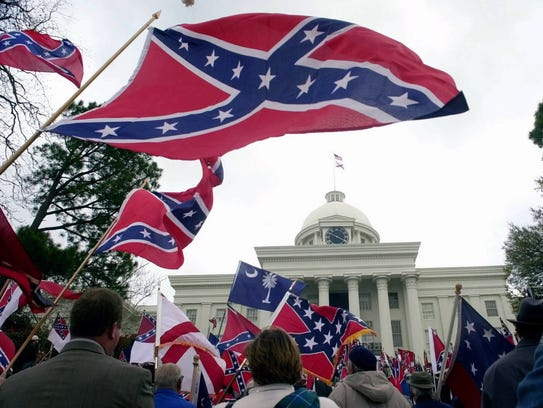 Several thousand Confederate flag-waving supporters