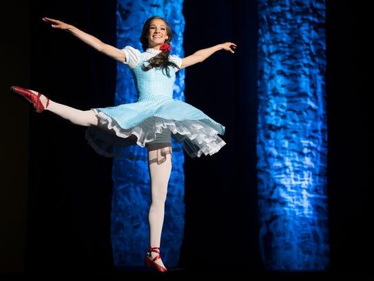 Miss Jackson's Outstanding Teen Mary Humphrey dances