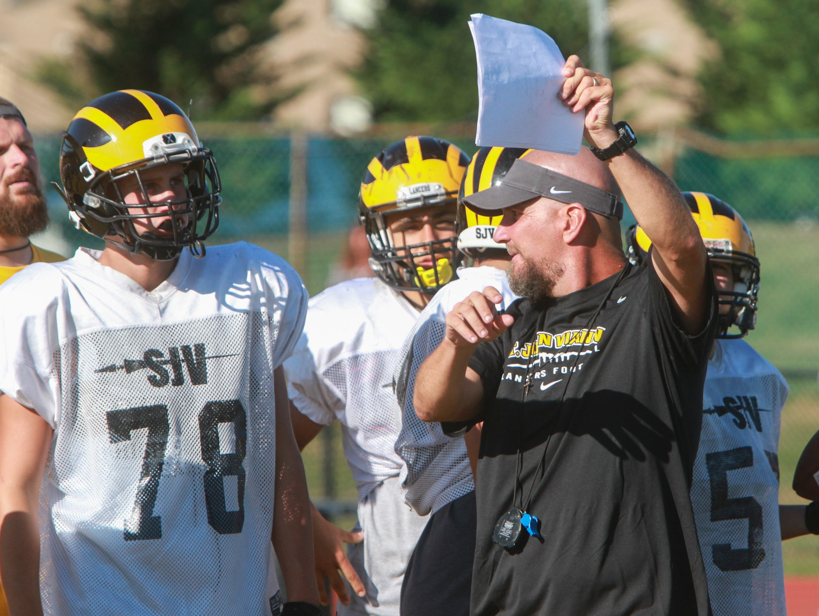 Derek Sininsky, in his first season as St. John Vianney's head coach, and the Lancers players have come together as the season has gone along.