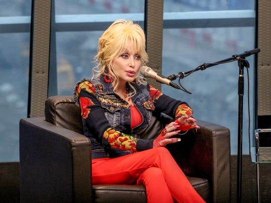 Dolly Parton at Nashville Music City Theatre on Oct. 9, 2017 in Nashville.