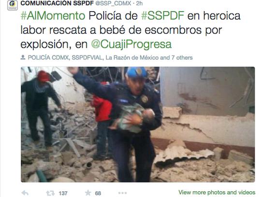 Tweet del SSP.