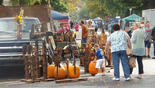 Fall decorations, food, arts and crafts are among the items available at Fourth Street Fair.