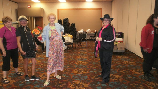 Thirteen ladies showed off fashions from area businesses during the fashion show.