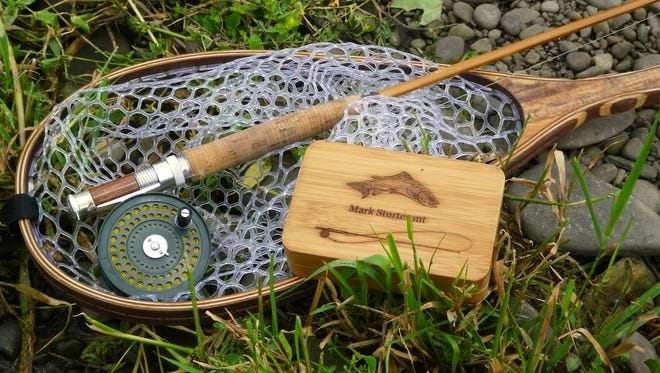 The author has all the equipment needed to take on the West Branch's sturdy trout.