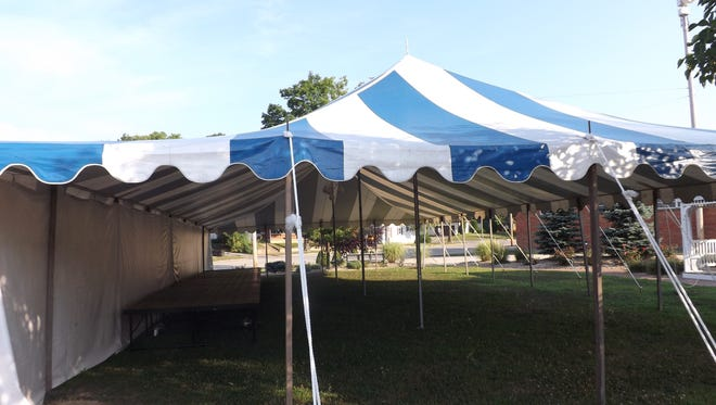 The Nettle Creek Players' tent