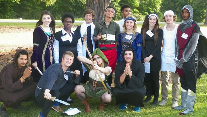 """The AP English IV/Dual Enrollment class of Opelousas High School completed one of its many senior projects by doing a reproduction of Geoffrey Chaucer's """"Canterbury Tales"""" pilgrimage."""