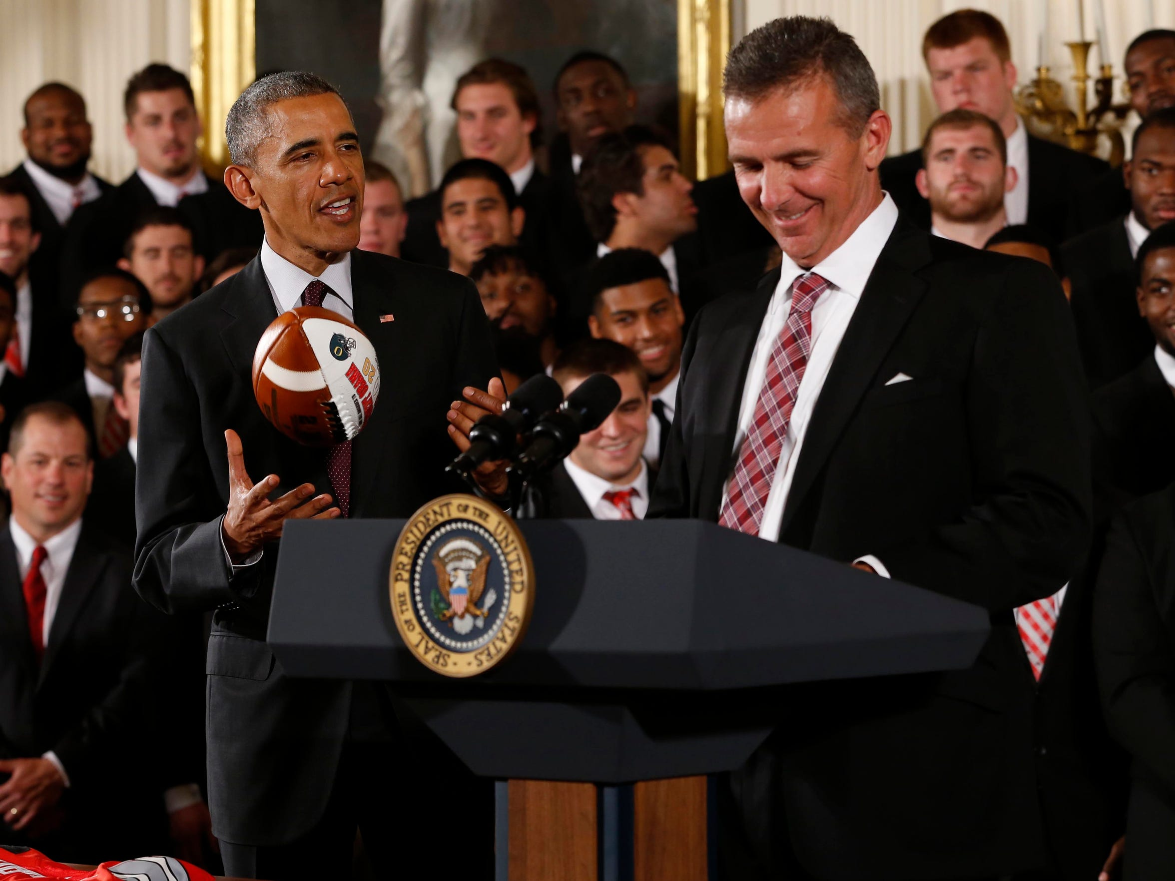 In a three-day span in April, Ohio State and coach Urban Meyer held their spring game and visited the White House.