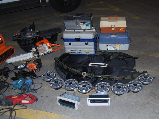Some of the stolen property recovered during a search