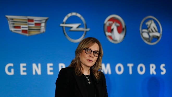 In this Jan. 10, 2017, file photo, General Motors Chairman and CEO Mary Barra speaks about the financial outlook of the automaker in Detroit. On Tuesday, Jan. 17, 2017, GM confirmed the company will make a $1 billion investment in its factories that will create or keep around 1,500 jobs.