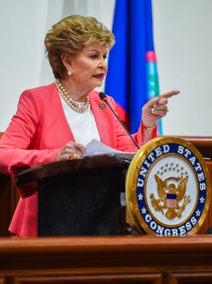 Guam Delegate Madeleine Bordallo delivers her annual Congressional Address to lawmakers and others gathered at the Guam Congress Building in Hagatña on Thursday, Aug. 2, 2018.