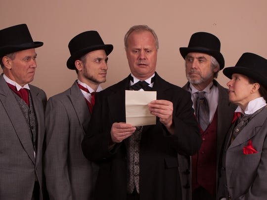 Dr. Henry Jekyll (center, played by John Ade of New