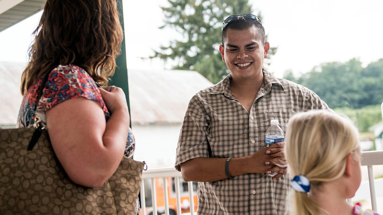 A year and a half ago, Lorenzo Moreno was hit by two cars on Route 30 as he was assisting a two-car crash. Sunday, Historic Round Barn and Farm Market celebrated his recovery, along with other activities for Father's Day.