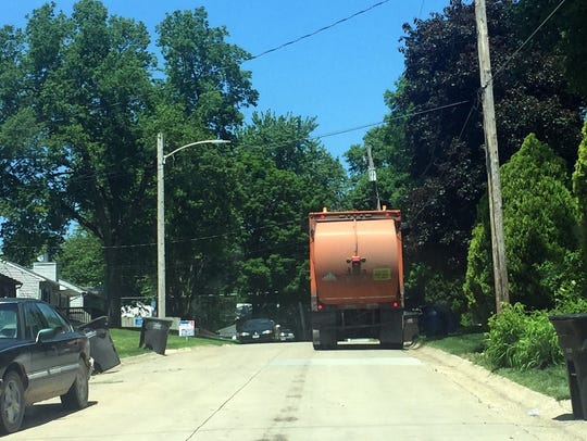 Garbage trucks, recycling trucks and a host of  utility