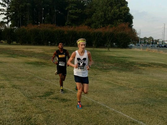 Madison senior Jackson McLemore had the early lead in the Region 8 A-AA cross country race.
