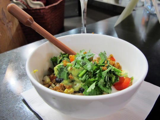 The border fusion bowl is one of three entree bowls Delicious Raw recently introduced.