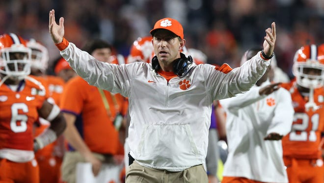 Dabo Swinney and Clemson finished with the No. 10 class according to 247sports.com, the second highest in the ACC.