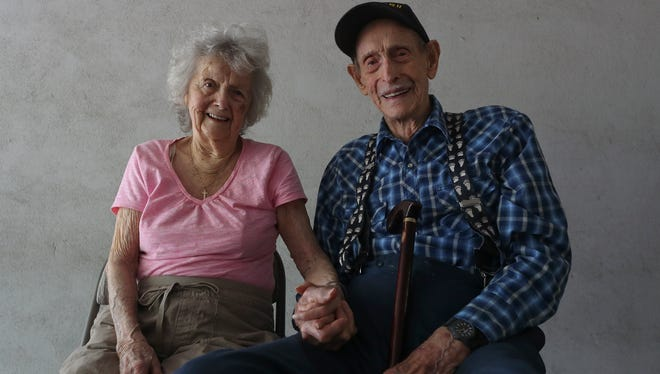 Delbert Wood, 98, and his wife Margaret, 97, of Redding have been married for 80 years.