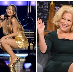 Ariana Grande juxtaposed with Bette Midler
