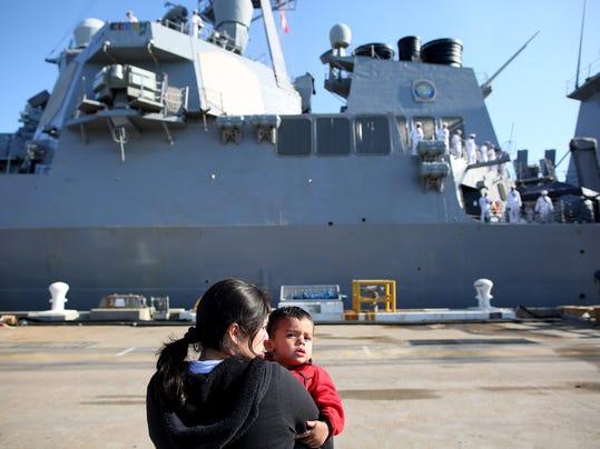 APTOPIX Destroyer-Departure Spain