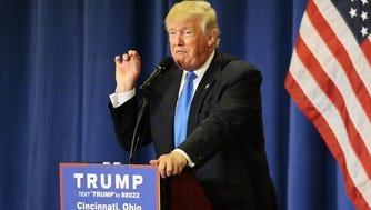 Donald Trump campaigns in Sharonville.