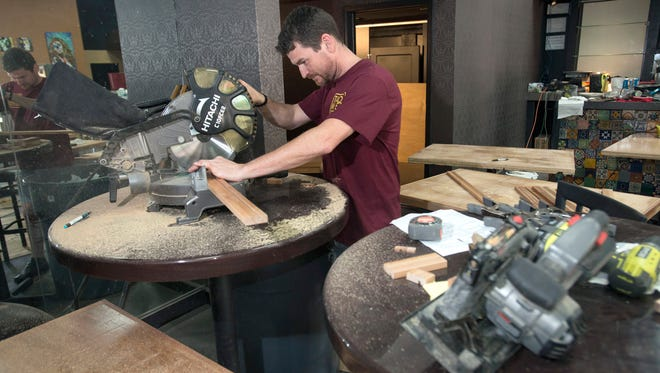 Pensacola restaurateur Joe Abston works on building his newest downtown dining spot, Taco Mez. The new taquería and tequilería restaurant is scheduled to open in May and will be located at 21 West Romana Street.
